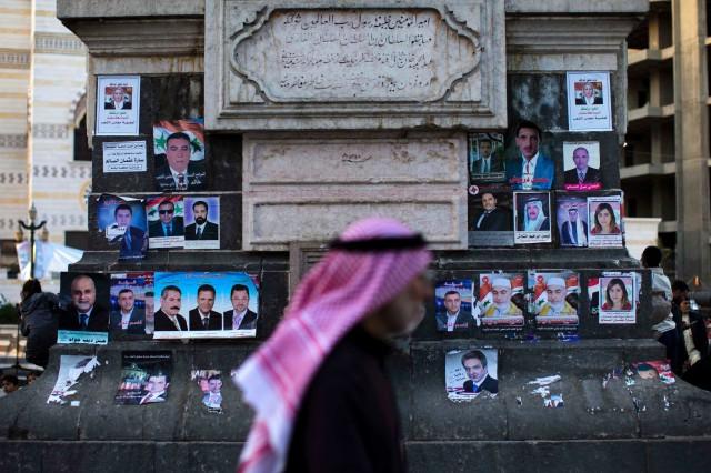 APTOPIX Mideast Syria Parliament Elections